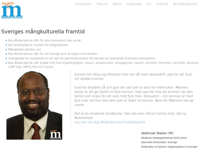 Nordisk Ungdom: Upplysningskampanj till moderata väljare!