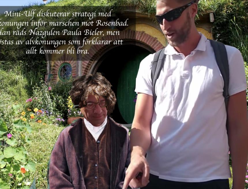 Exklusiv valbild: Mini-Ulf diskuterar med alvkungen