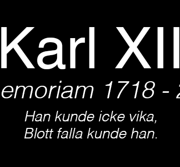 Karl XII in memoriam 1718-2018