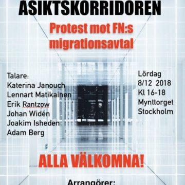 Protestera mot FN:s migrationsavtal! Mynttorget nu på lördag kl 16! Massa spännande talare klara!