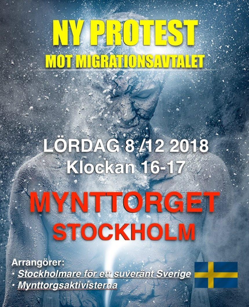 8 december samlas vi kl 16 på Mynttorget för att protestera mot FN:s migrationsavtal